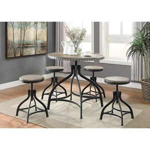 5 Piece Adjustable Height Dinette Set