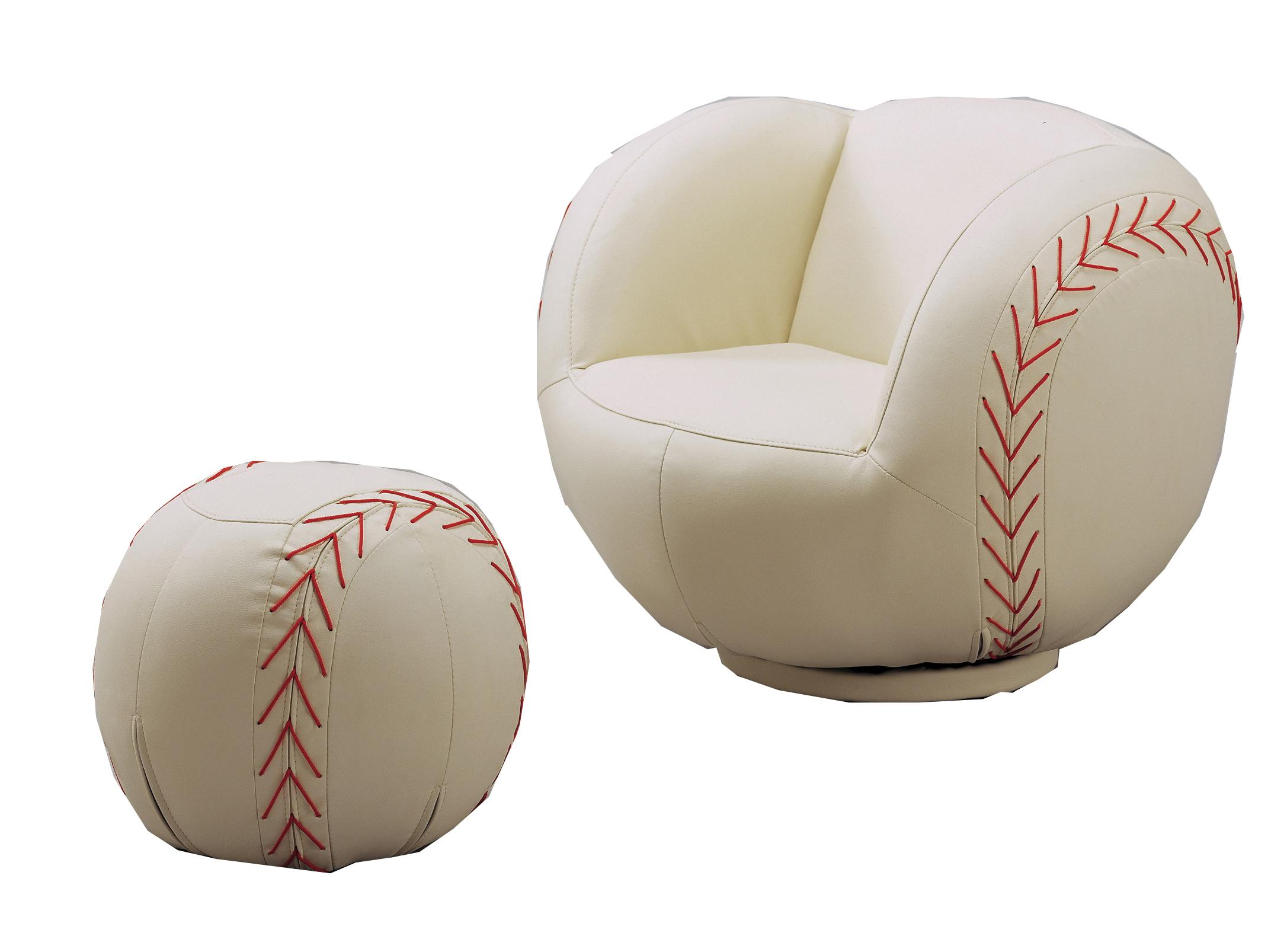 Crown Mark Kids Sport Chairs Baseball Chair & Ottoman - Item Number: 7001