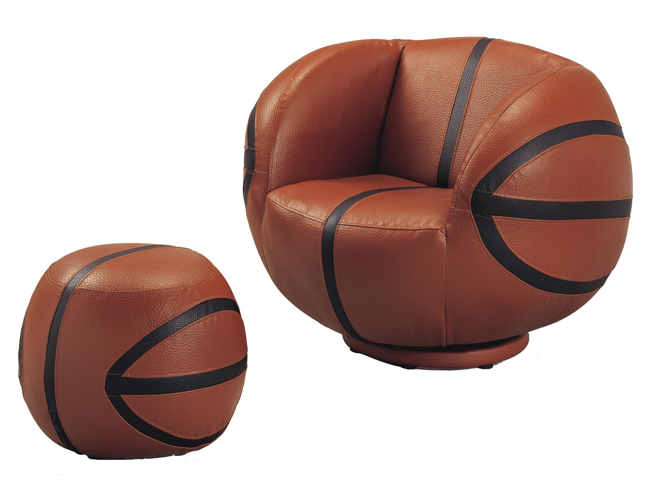 Crown Mark Kids Sport Chairs Basketball Chair & Ottoman - Item Number: 7002