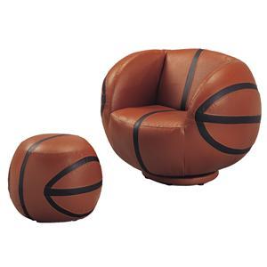 Belfort Essentials Kids Sport Chairs Basketball Chair & Ottoman