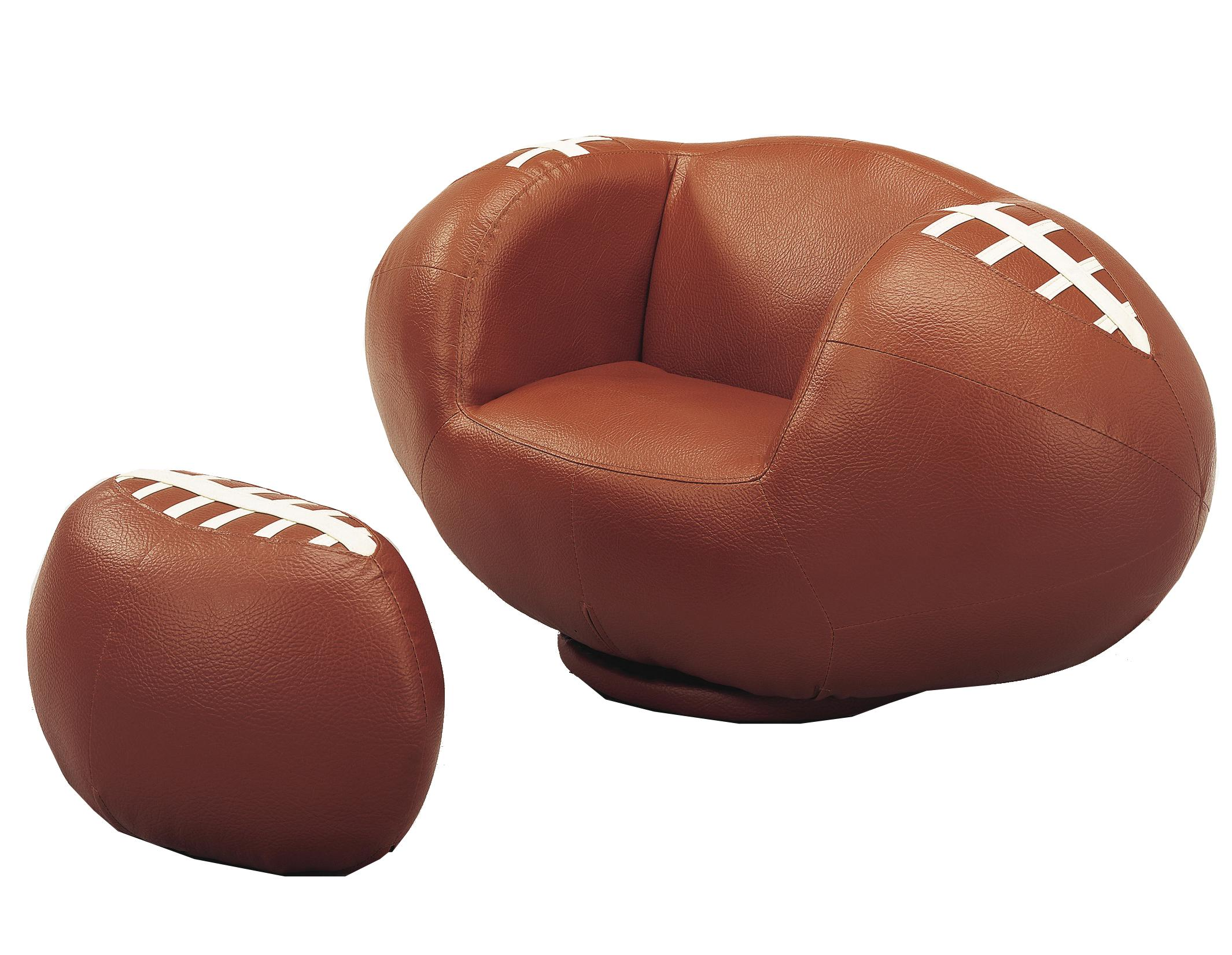 Crown Mark Kids Sport Chairs Football Chair & Ottoman - Item Number: 7003