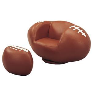 Belfort Essentials Kids Sport Chairs Football Chair & Ottoman