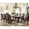 Crown Mark Kiera Traditional Dining Arm Chair with Upholstered Back and Seat