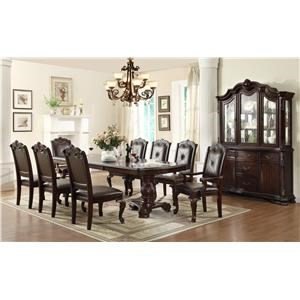 Crown Mark Kiera 5 Piece Table and Chair Set