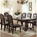 Crown Mark Kiera Dining Table - Item Number: 2150T-44108-LEG+TOP