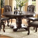 Crown Mark Kiera Round Dining Table - Item Number: 2150T-60-TOP+LEG