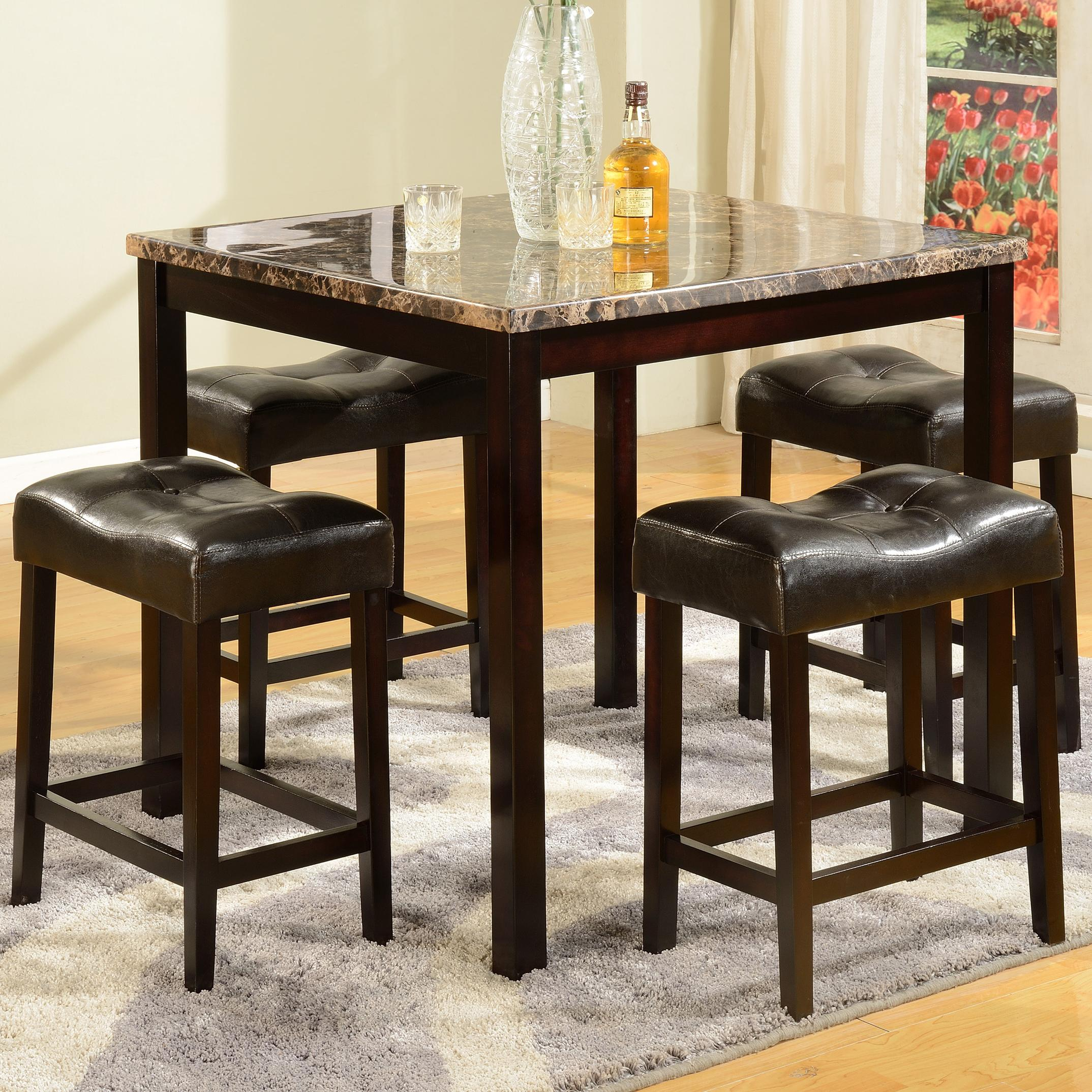 Crown Mark Kinsey 5 Piece Counter Table & Stool Set - Item Number: 2773SET