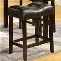 Crown Mark Kinsey 5 Piece Faux Marble Counter Table & Upholstered Stool Set - Stool Shown
