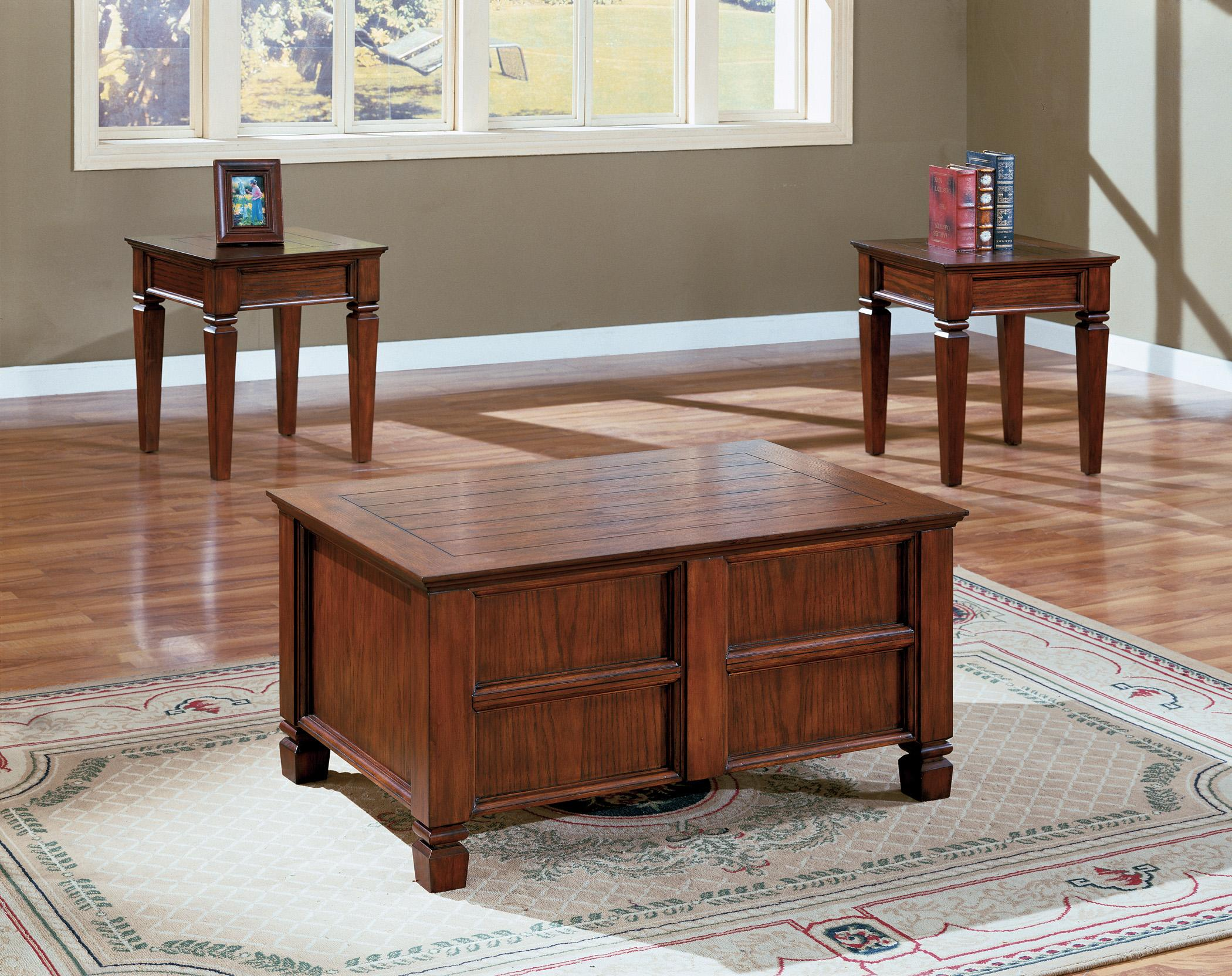 Crown Mark Knoxville 3 Piece Cocktail Table Set - Item Number: 4119SET