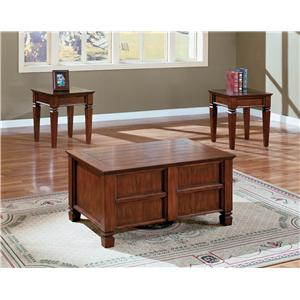 Crown Mark Knoxville 3 Piece Cocktail Table Set