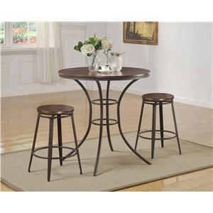 Crown Mark Kylie 3 Piece Counter Height Table and Stool Set