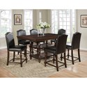 Crown Mark Langley Counter Height Table Set - Item Number: 2766T-4266+6xS-24-ESP