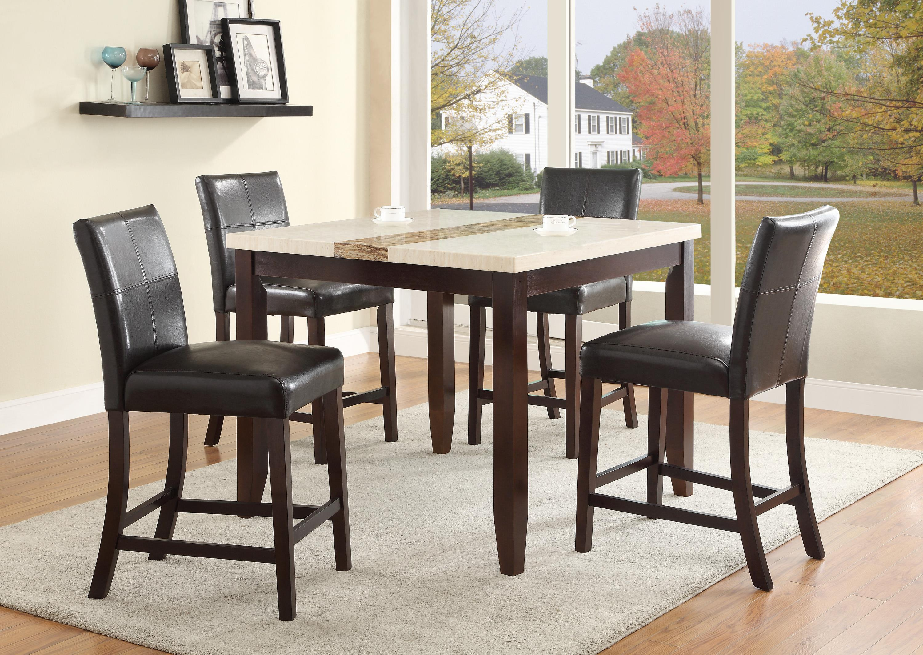 Crown Mark Larissa Counter Height Table Set - Item Number: 2722T-4242+4x2722S-24