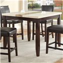 Crown Mark Larissa 5 Piece Counter Height Table Set with Upholstered Side Chairs