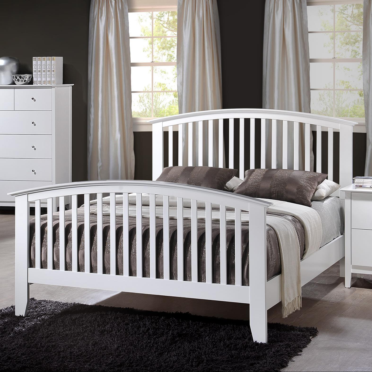 Crown Mark Lawson Full Slat Bed - Item Number: B7500-F-HBFB+FT-RAIL
