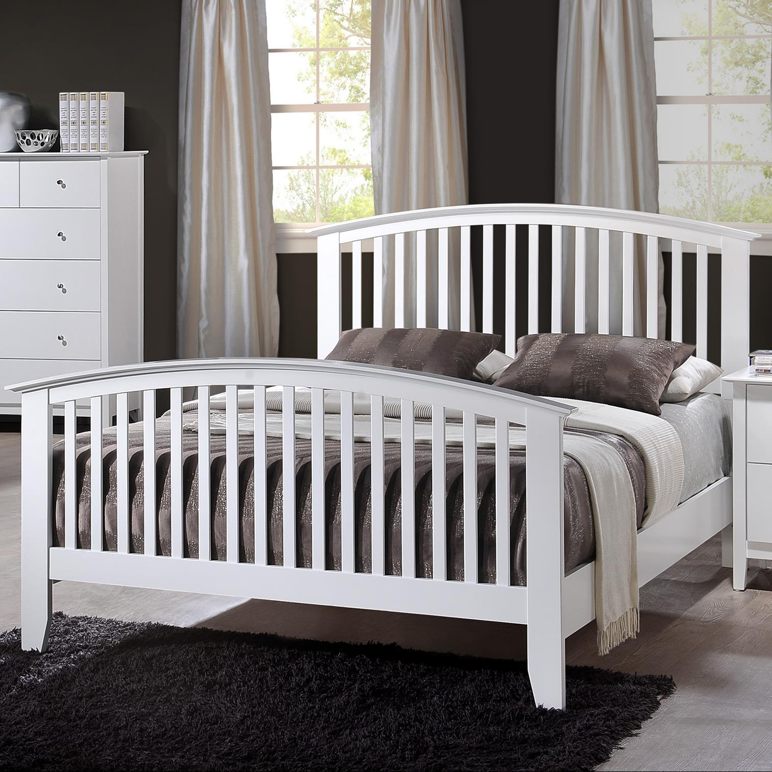 Crown Mark Lawson King Slat Bed - Item Number: B7500-K-HBFB+KQ-RAILS