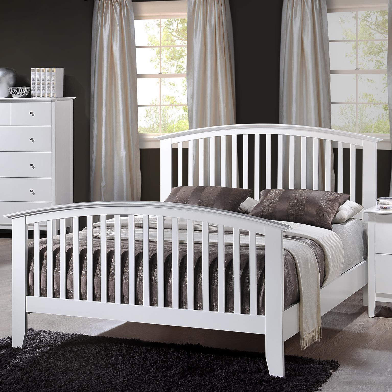 Crown Mark Lawson Queen Slat Bed - Item Number: B7500-Q-HBFB+KQ-RAILS