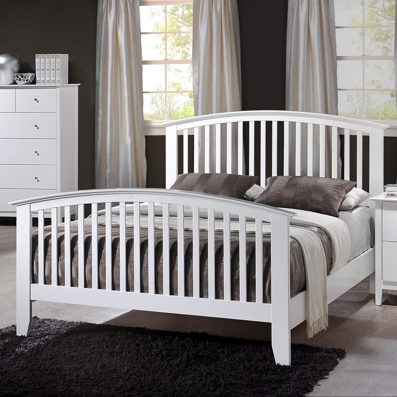 Crown Mark Lawson Twin Slat Bed - Item Number: B7500-T-HBFB+FT-RAIL