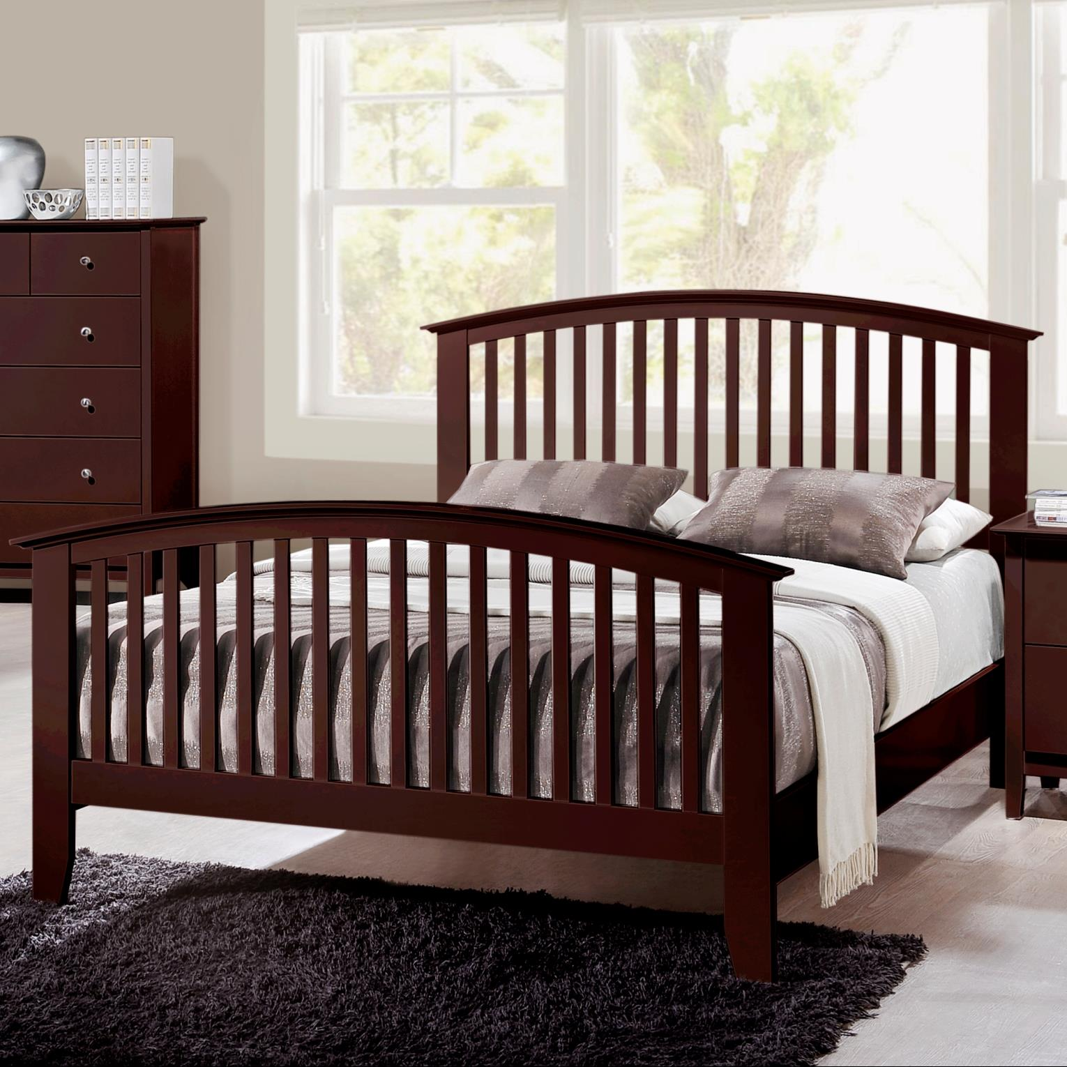 Crown Mark Lawson  Full Slat Bed - Item Number: B7550-F-HB+FB+RAIL
