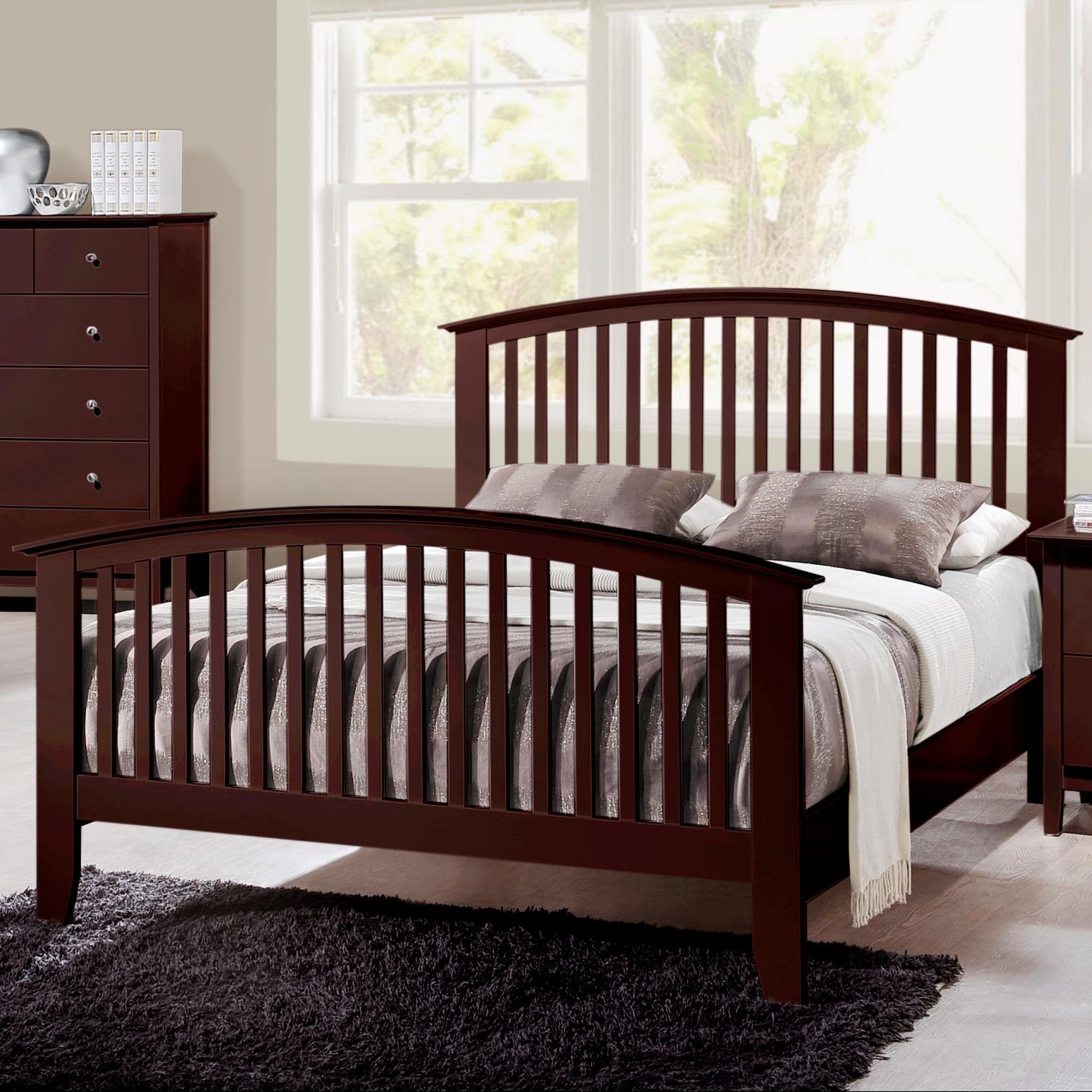 Crown Mark Lawson  California King Slat Bed - Item Number: B7550-K-HB+FB+CK-RAIL