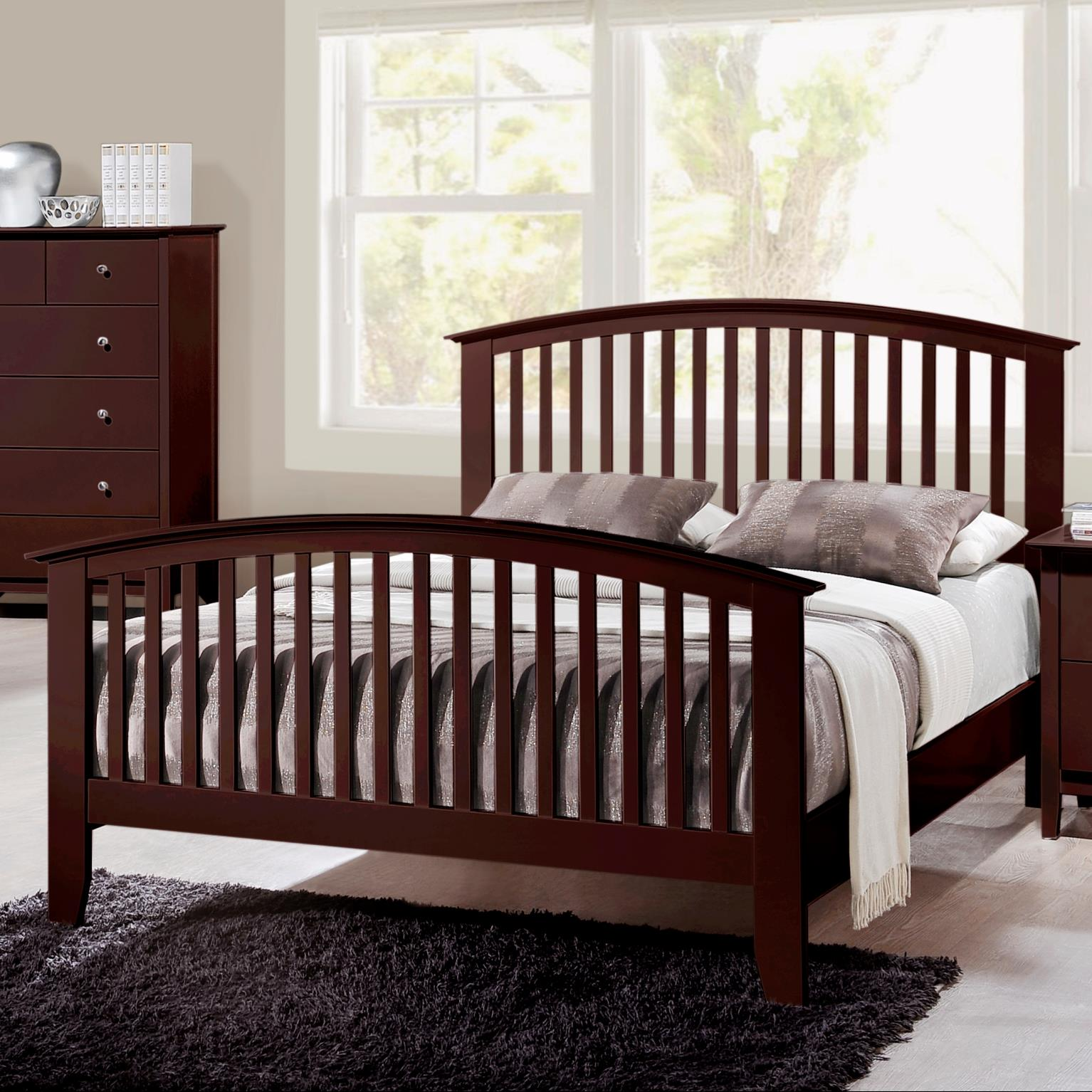 Crown Mark Lawson  King Slat Bed - Item Number: B7550-K-HB+FB+RAIL