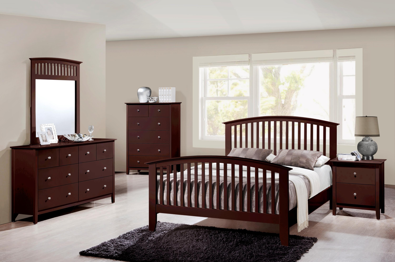 Crown Mark Farrow Queen Bedroom Group: Crown Mark Lawson Queen Slatted Headboard & Footboard Bed