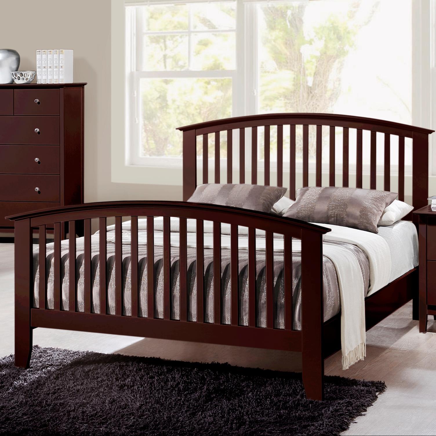 Crown Mark Lawson  Twin Slat Bed - Item Number: B7550-T-HB+FB+RAIL