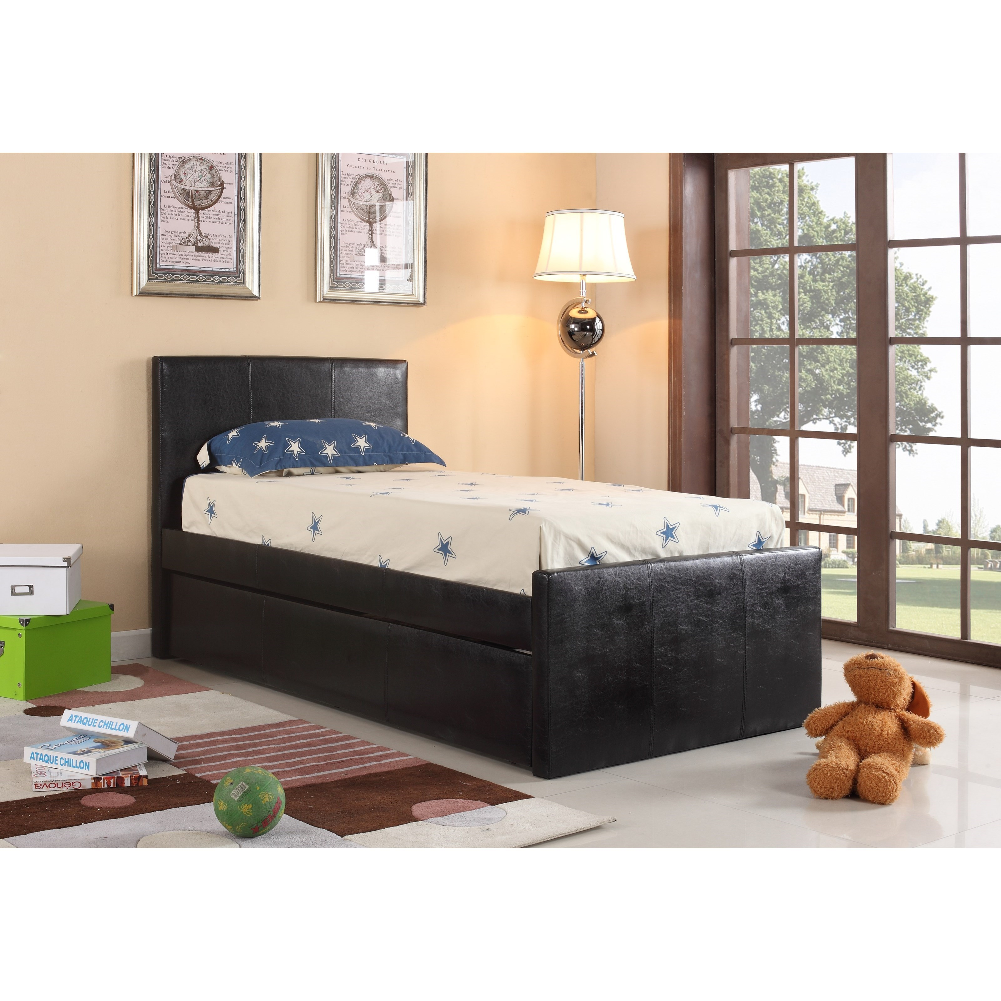 Crown Mark Leo Twin Headboard and Footboard - Item Number: 4527-T-HBFB