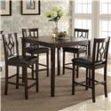 Crown Mark Leon Counter Height Table Set - Item Number: 2713SET