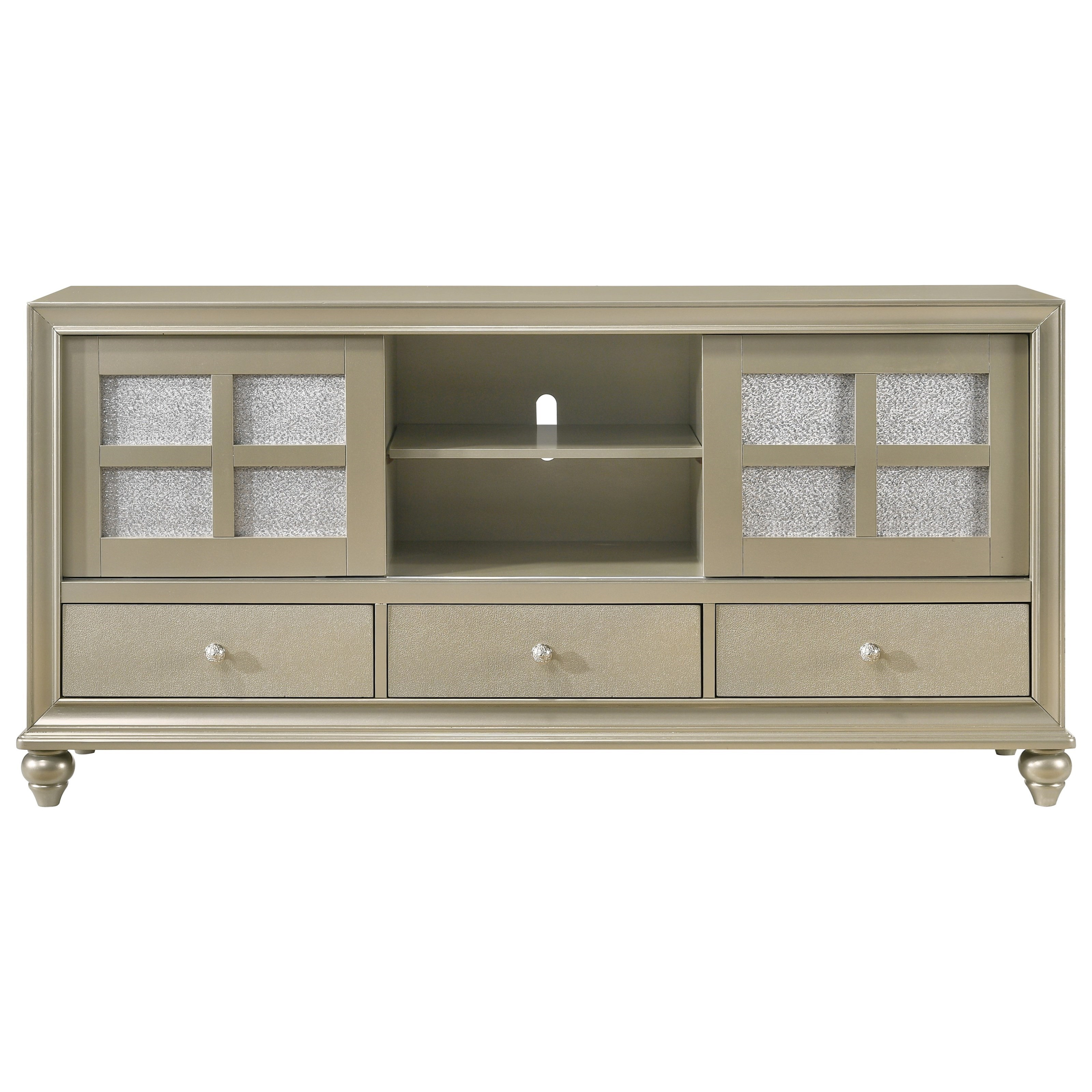 Crown Mark Lila Glam Two Toned Tv Stand Wayside Furniture Tv Stands