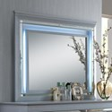 Crown Mark Lillian Dresser Mirror with LED Backlight