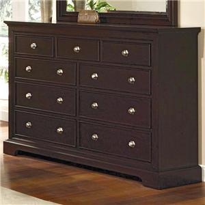Crown Mark London 9 Drawer Dresser