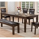 Crown Mark Lottie Dining Table - Item Number: 2333T-4286
