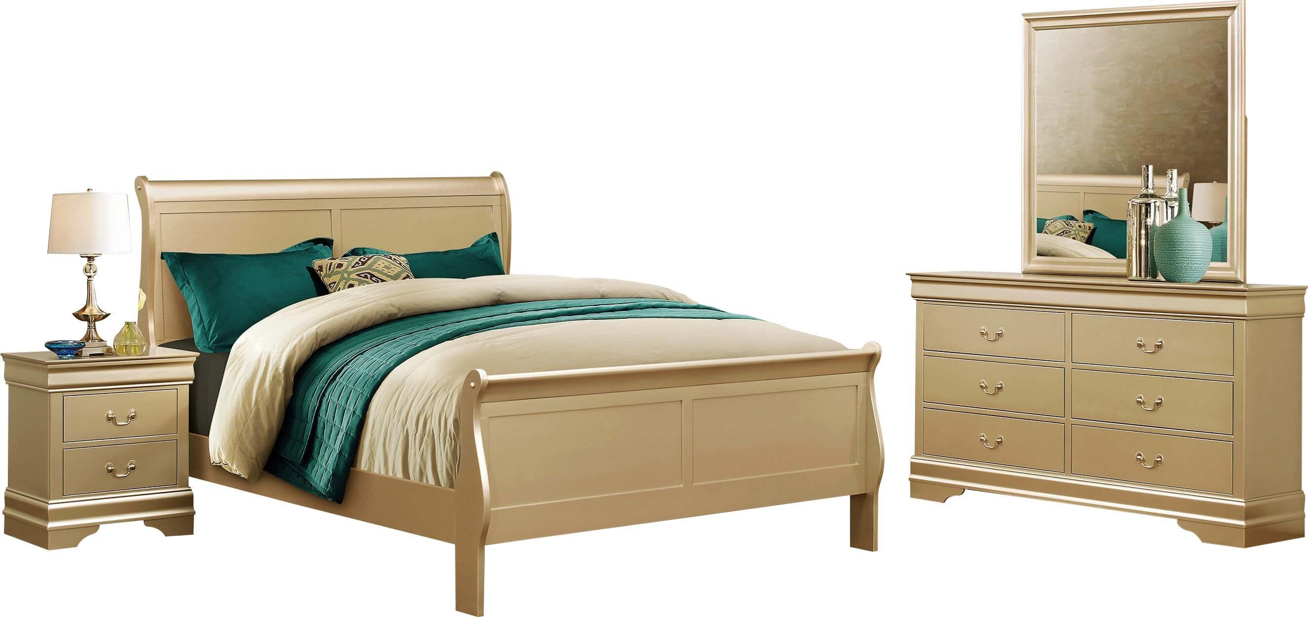 Crown Mark Farrow Queen Bedroom Group: Del Sol CM Louis Phillipe B3400 Q Bedroom Group 2 Queen