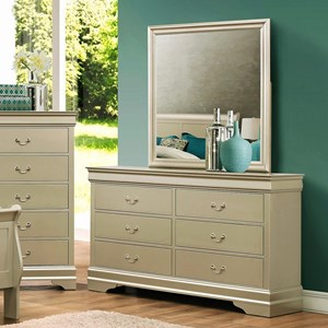 Crown Mark Louis Phillipe Dresser & Mirror - B3400-1+11