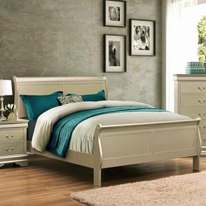 Crown Mark Louis Phillipe Queen Bed - B3400-Q-HBFB+RAIL