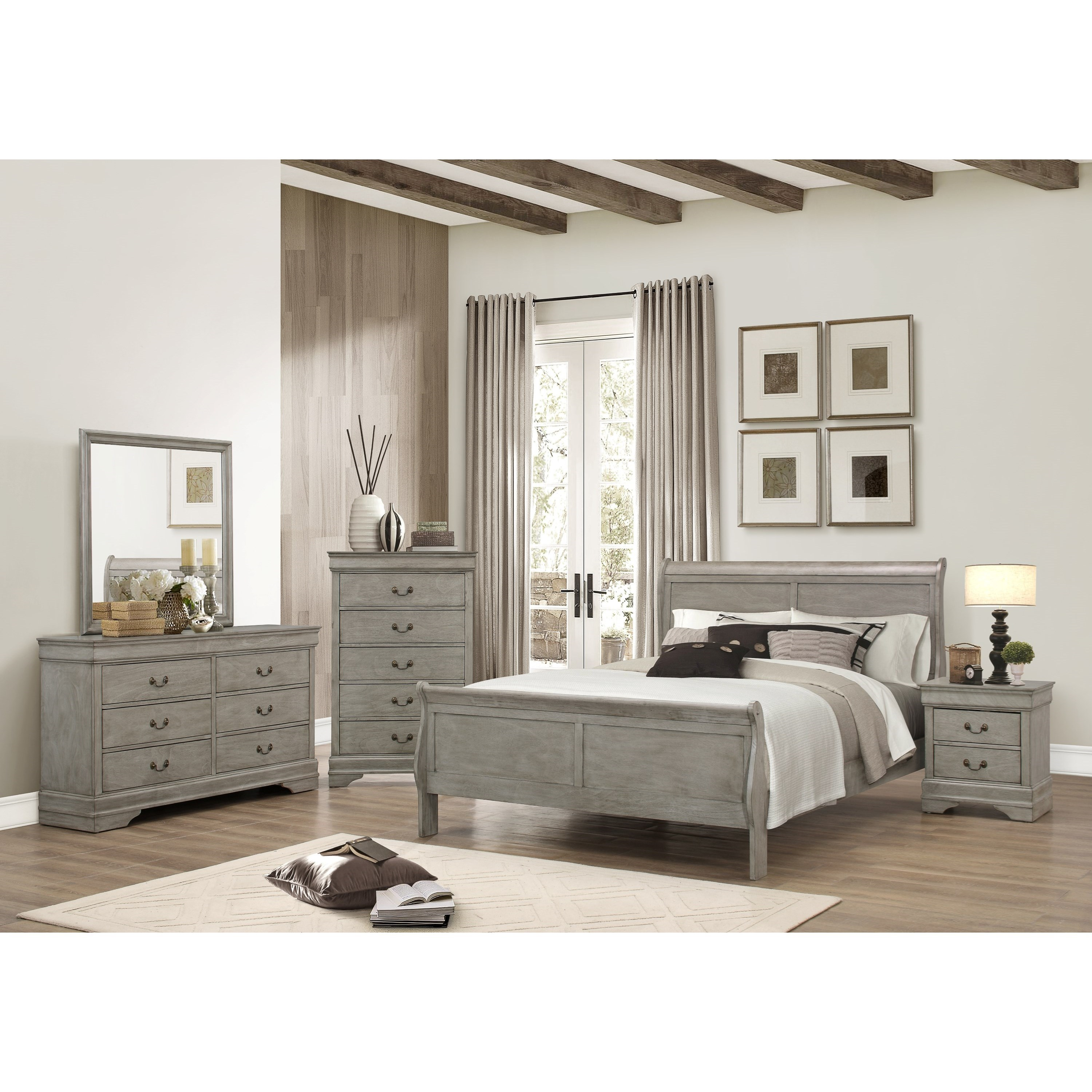 Crown Mark Louis Phillipe King Bedroom Group - Item Number: B3500 K Bedroom Group 1