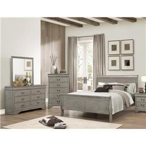 Crown Mark Louis Phillipe 5 Piece Bedroom Group - B3500 Queen 5pc Group