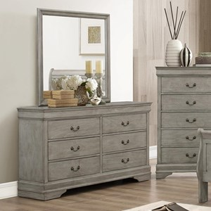 Crown Mark Louis Phillipe Dresser & Mirror - B3500-1+11