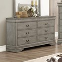 Crown Mark Louis Phillipe Traditional Dresser with 6 Drawers