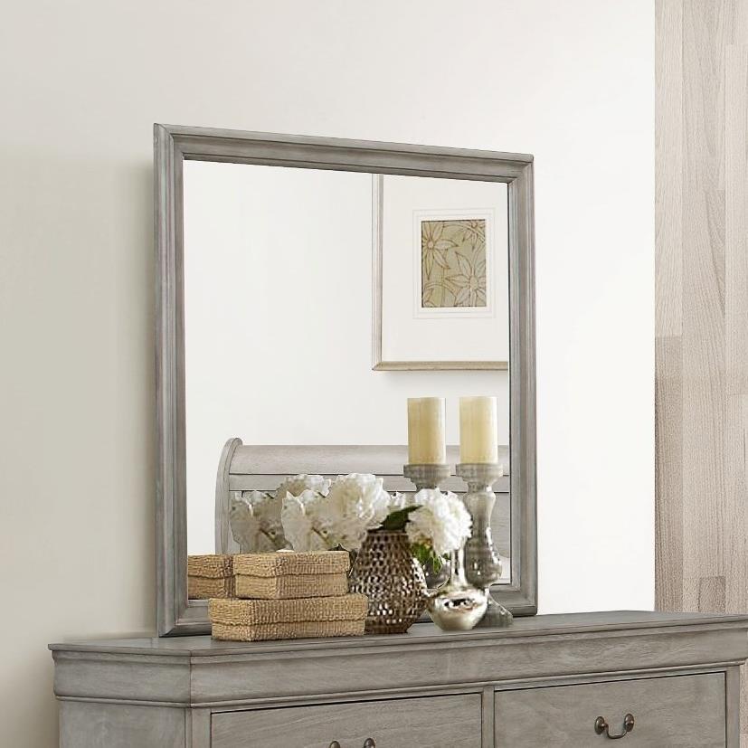 Crown Mark Louis Phillipe Dresser Mirror - Item Number: B3500-11