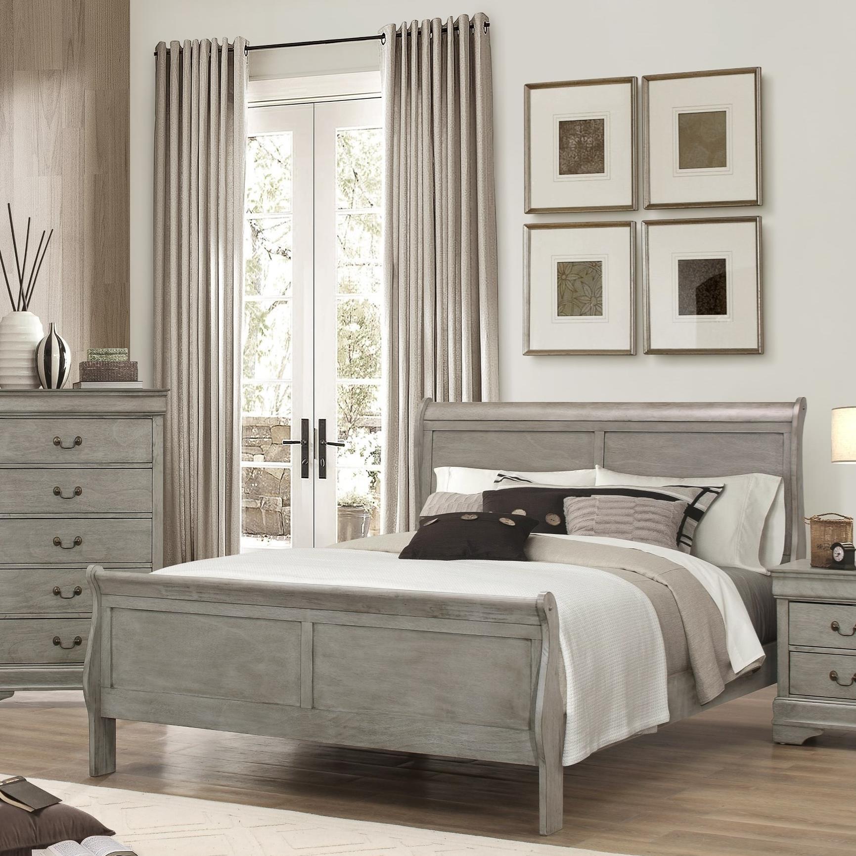 Crown Mark Louis Phillipe Full Bed - Item Number: B3500-F-HBFB+RAIL