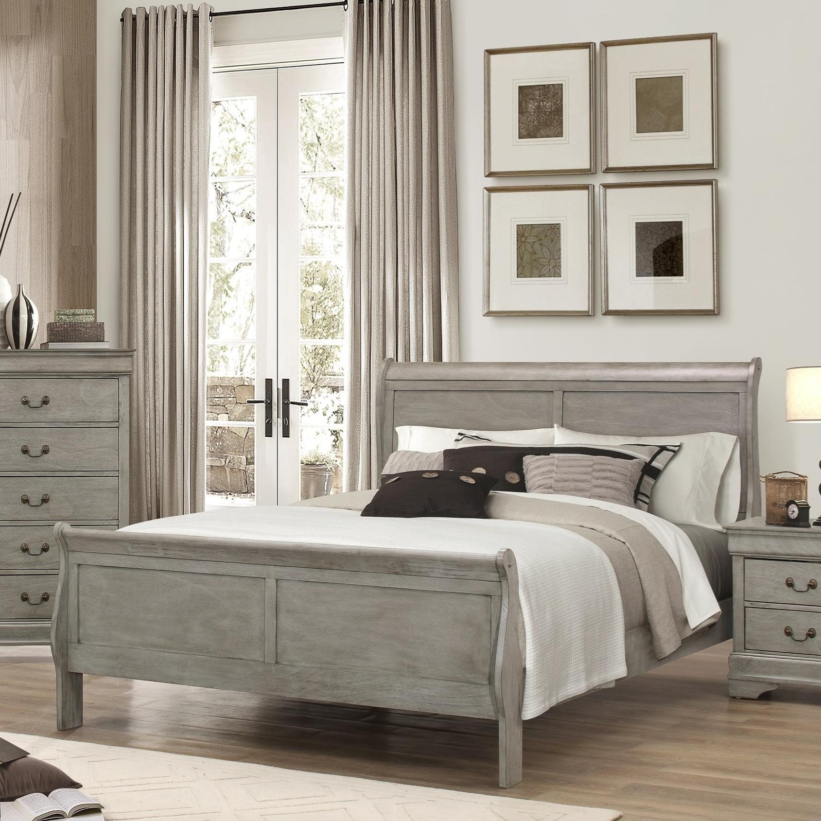 Crown Mark Louis Phillipe King Bed - Item Number: B3500-K-HBFB+RAIL