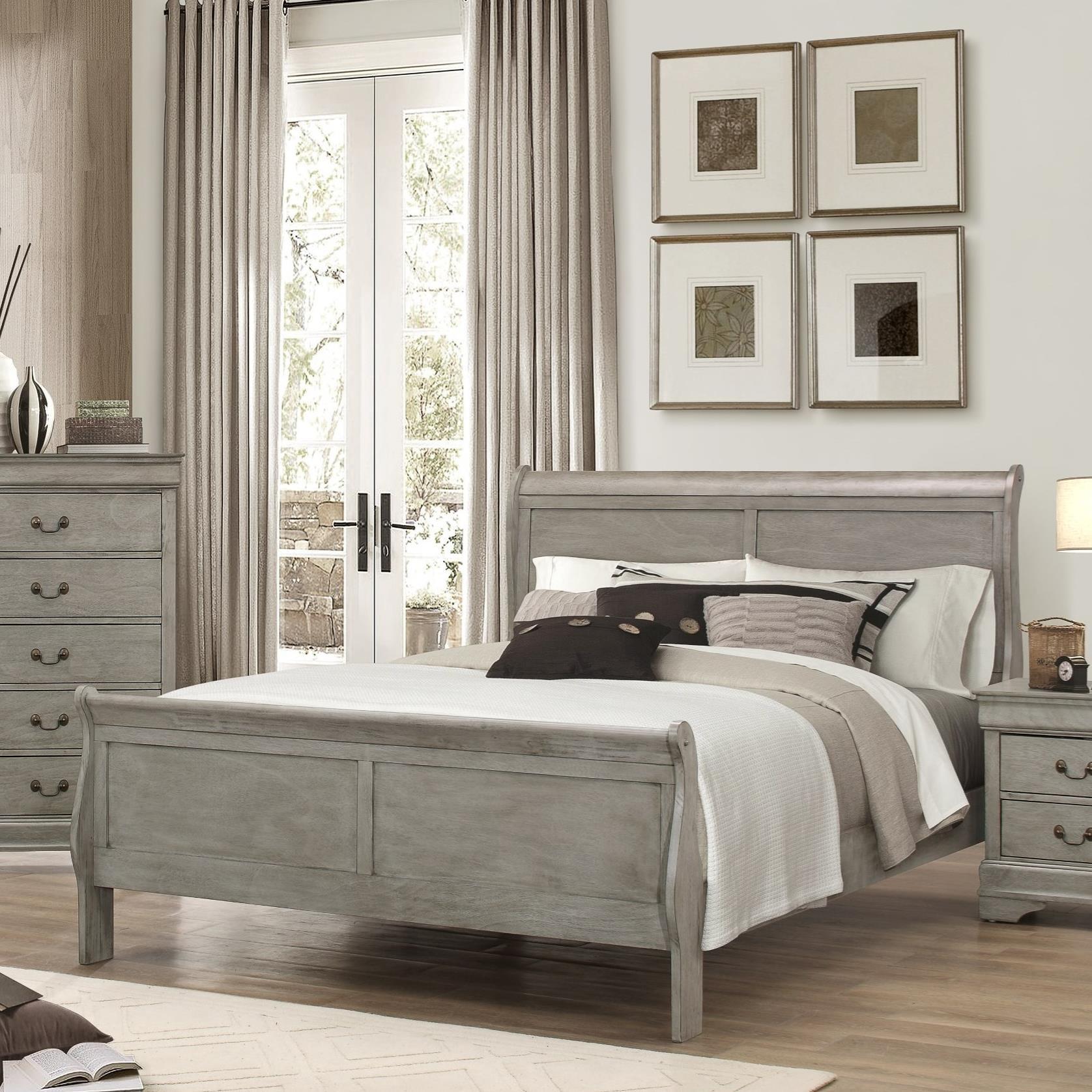 Crown Mark Louis Phillipe Queen Bed - Item Number: B3500-Q-HBFB+RAIL