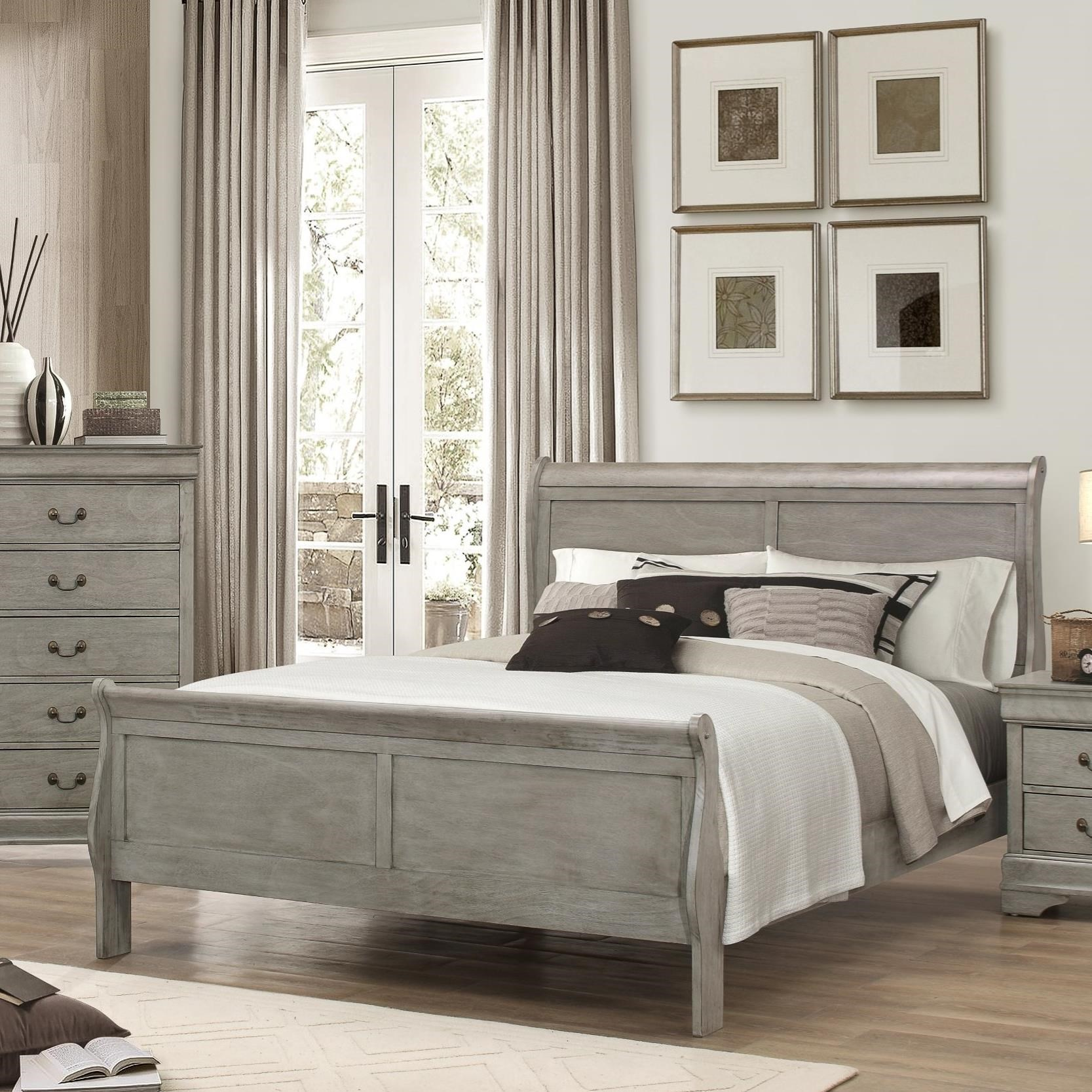 Crown Mark Louis Phillipe Twin Bed - Item Number: B3500-T-HBFB+RAIL