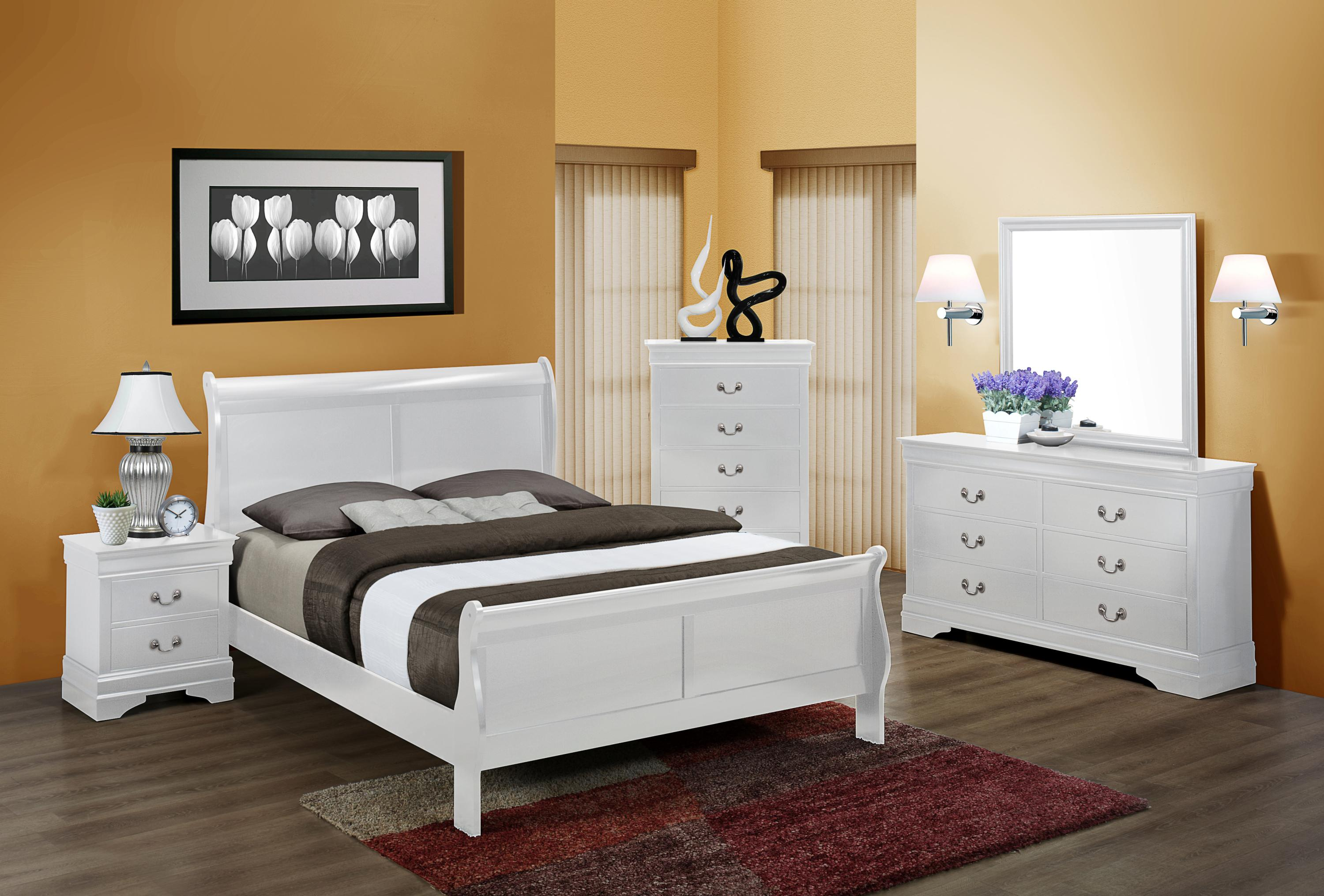 Crown Mark Louis Phillipe Twin Bedroom Group - Item Number: B3600 T Bedroom Group 1