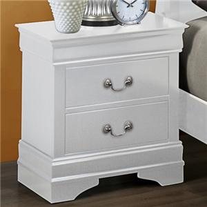 Crown Mark Louis Phillipe Nightstand
