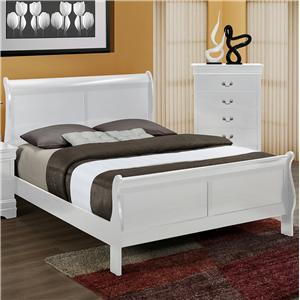 Crown Mark Louis Phillipe Queen Bed - B3600-Q-HBFB+RAIL