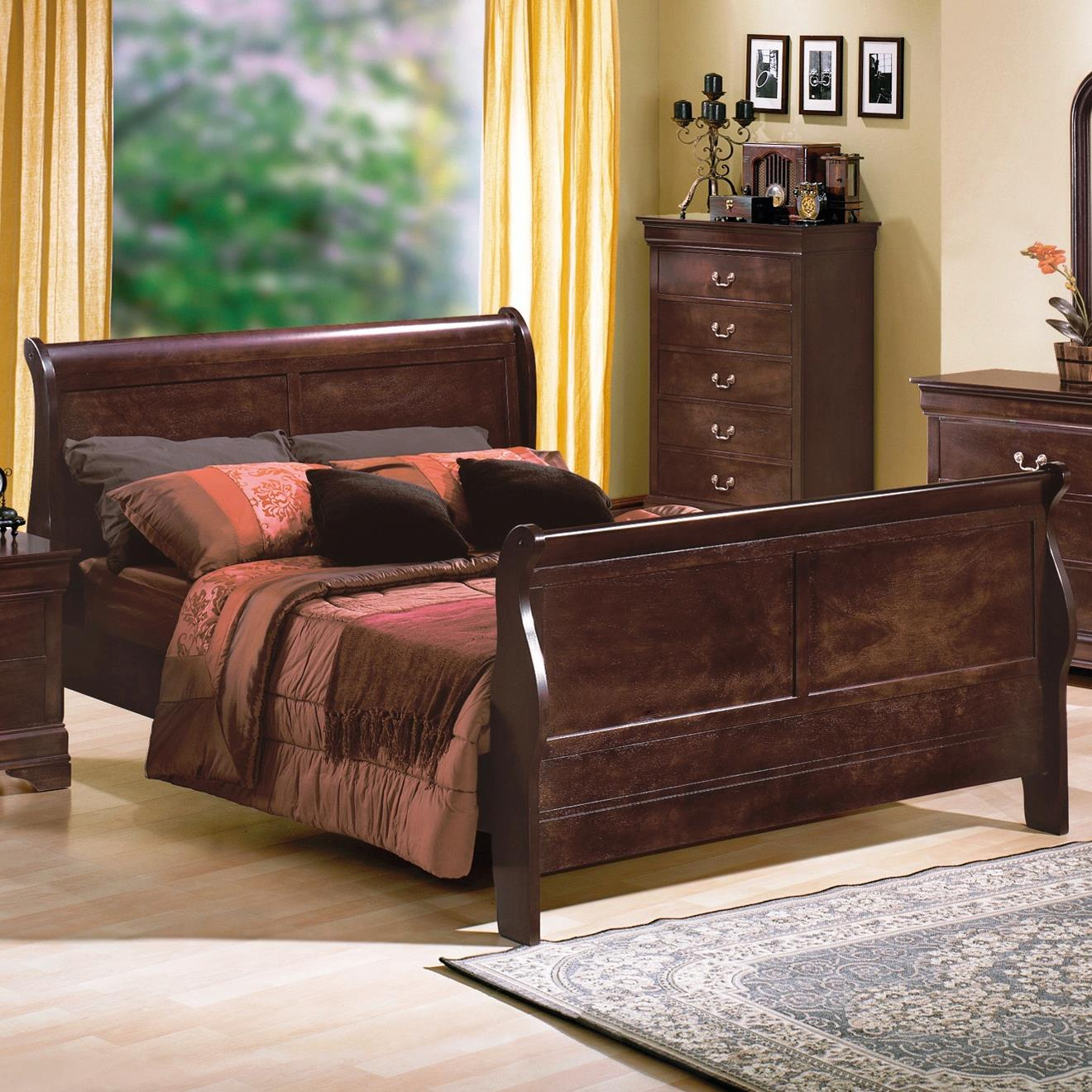 Crown Mark Louis Phillipe Twin Bed - Item Number: B3775-T-HBFB+RAIL