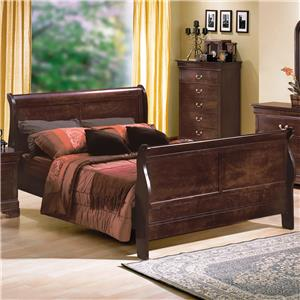 Crown Mark Louis Phillipe Queen Bed
